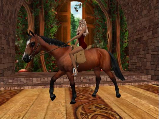 Beautiful Horse and Rider from Second Life