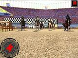 On-screen Easy Controls in Horse Race Derby Action