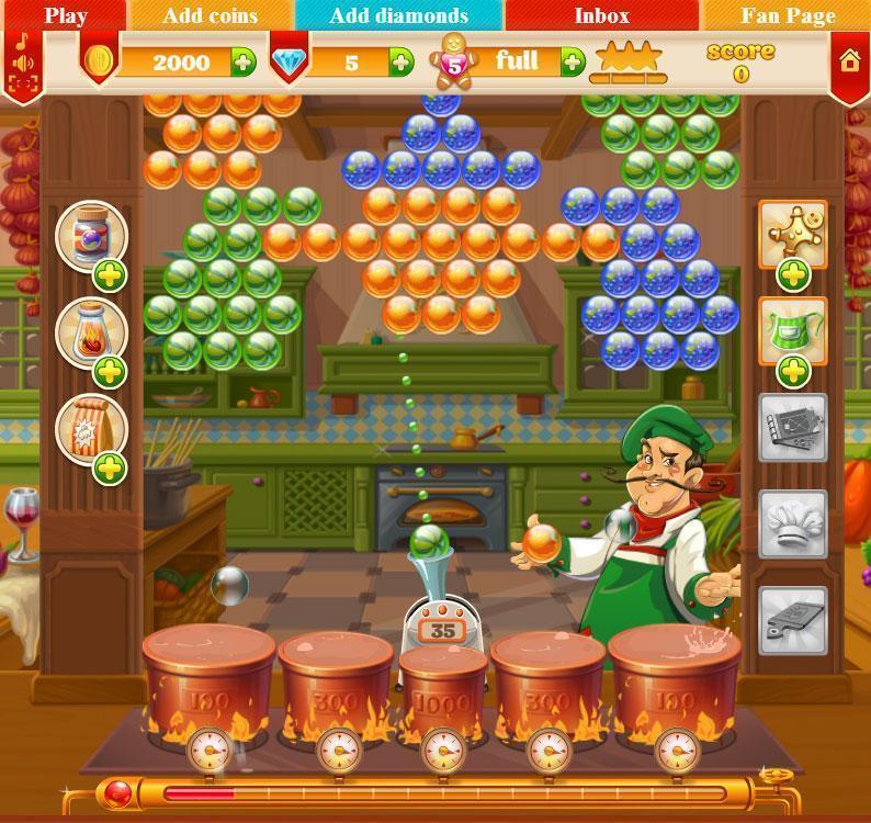 Burbuja de cocina juegos mundos - Juegos de cocina con niveles ...