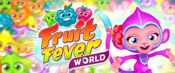Fruit Fever World - Disfrute de un juego lindo partido 3 a medida que la aventura con su amigo el mono.