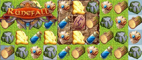 Runefall - Disfrute de un impresionante juego de match 3 con una diferencia a medida que recoger materiales para reconstruir su ciudad.