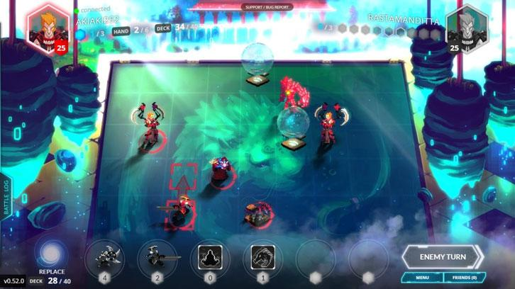 Duelyst gameplay