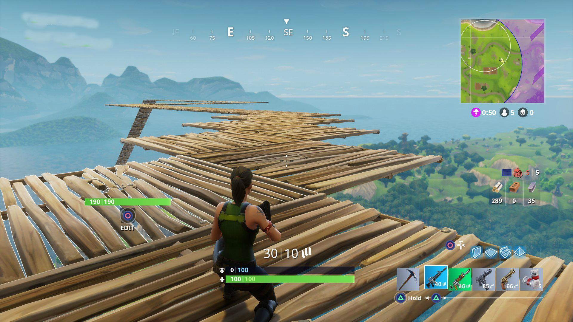 Building a sky platform in Fortnite BR