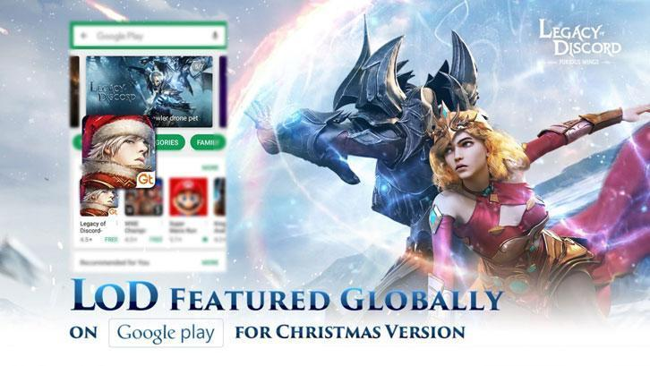 Legacy of Discord is Featured by Google Play for This Christmas