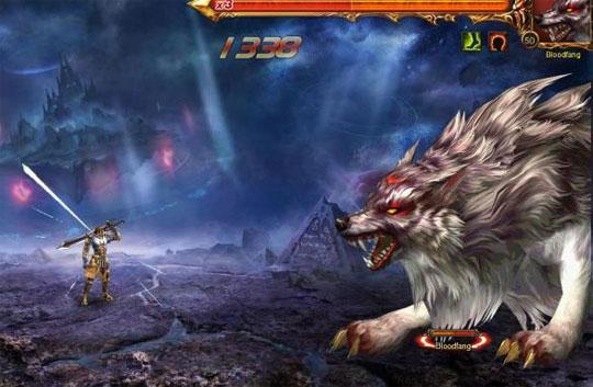 Battle Giant Monsters in Wartune