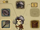 Profile and inventory in The Greedy Cave
