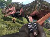 ARK: Survival Of The Fittest: Battle with a TREX