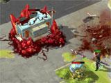 Zombie Anarchy: War & Survival raiding a zombie outpost