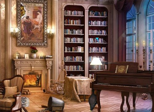 The Library in Rooms of Memory