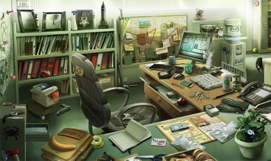 Detectives Desk in Criminal Case
