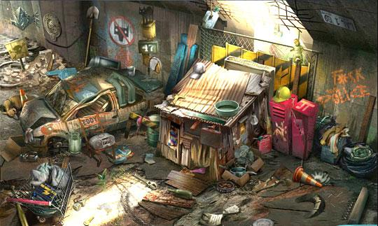 Homeless Camp in the Slums in Criminal Case