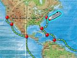 Map screen in Vacation Adventures: Cruise Director 4