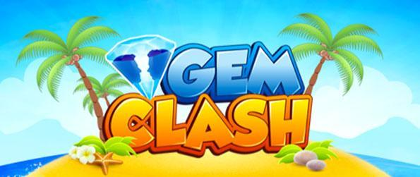 Gem Clash - Match gems together in this fast paced Facebook Game.
