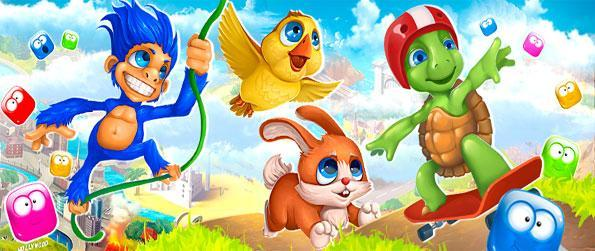 Pet Runaway - Blow up the blocks and save the cute animals in a fun Facebook Game.