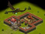 A dragon attack in Throne Rush