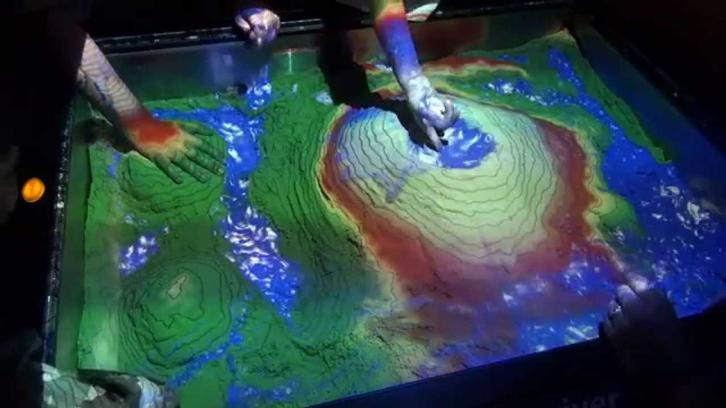 Kinect-augmented AR sandbox