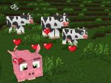 Cows and pigs in World of Cubes Survival Craft