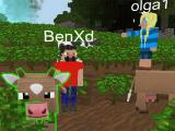 Tending the animals in Planet of Cubes Survival Games