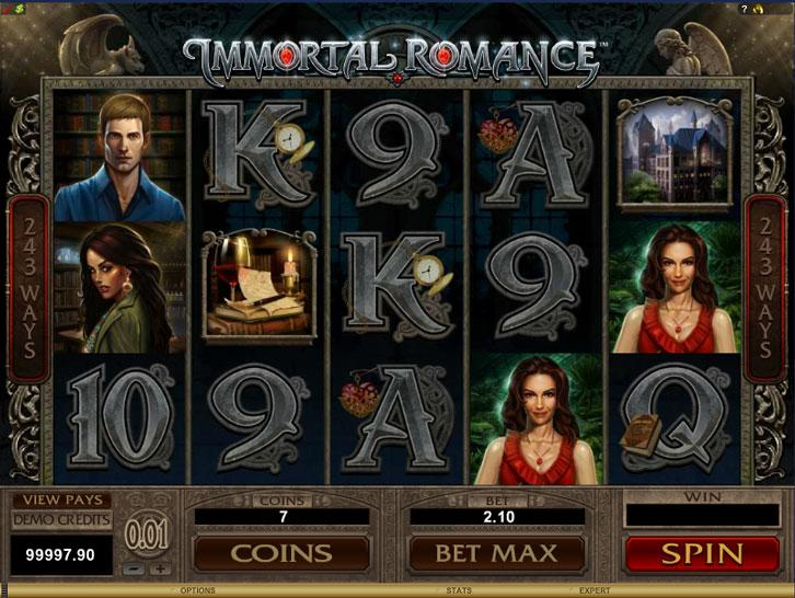 Immortal Romance on 7Sultans online casino
