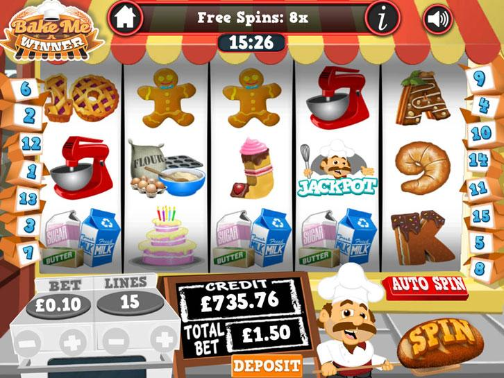 Bake Me A Winner slots at mFortune