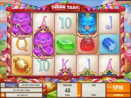 Cute Sugar Trail Machine in Mirrorball Slots
