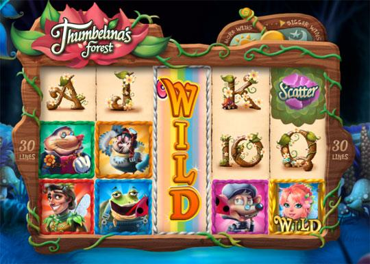 Thumbelina's Forrest in Mirrorball Slots