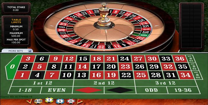 A game of online roulette