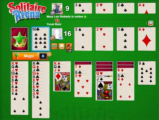 Clearing Cards in Solitaire Arena