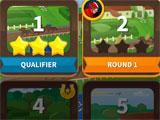 Solitaire Dash level selection menu