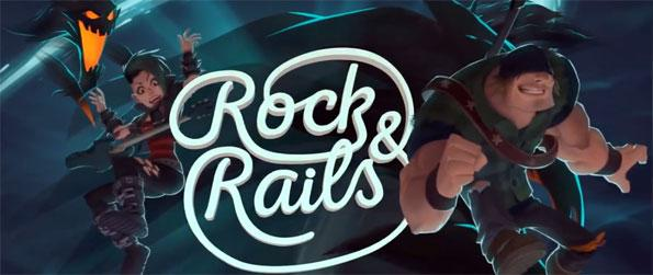 Rock & Rails - Embark on a surreal trip as a member of a 3-man rock band in this brilliant VR rock-and-roll adventure, Rock & Rails!