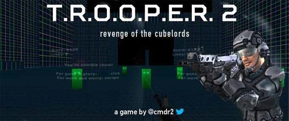 Trooper 2 - Enjoy up to 14 levels of non-stop Shoot 'em Up action and fight back the hordes of Cubelords in Trooper 2!