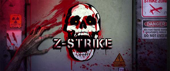 Zombie Strike - Take control of a powerful military drone and try your best to stop the zombie onslaught in hopes of saving the last of humanity in Zombie Strike!