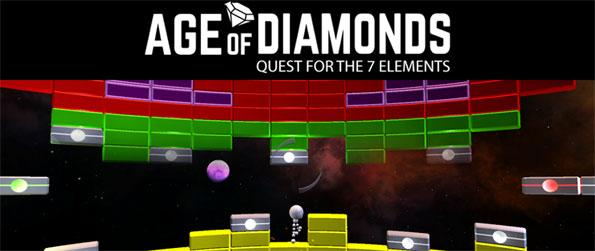 Age of Diamonds - Break all the colored bricks to collect the soul-diamonds needed in each level in this fun arcade game, Age of Diamonds!