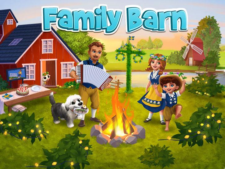 Enjoy the Midsummer's Days in Scandinavia in Family Barn