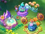 Managing Buildings in Trolls: Crazy Party Forest