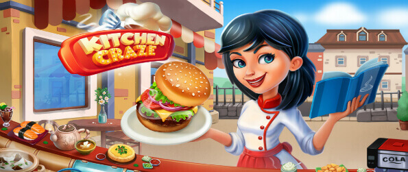 Kitchen Craze - Challenge your skills as a master chef and create amazing cuisines.