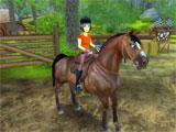 Star Stable: rider in a horse