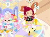 riding the carousel in LINE Play