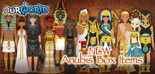 Enjoy the new Egyptian Theme in ourWorld