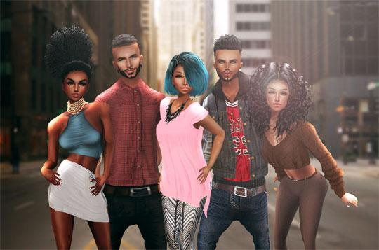 Hit The Town with Friends in IMVU