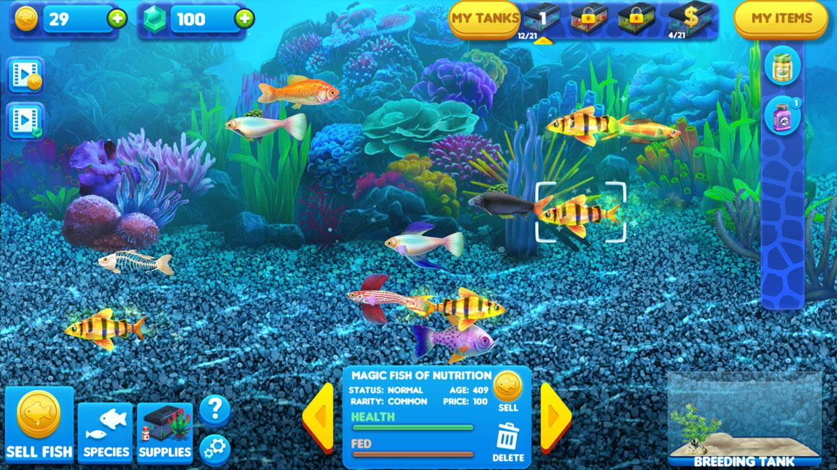 Fish tycoon 2 virtual worlds land for Fish tycoon 2
