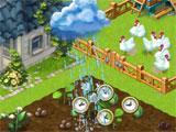 Raining on crops in Lucky Fields