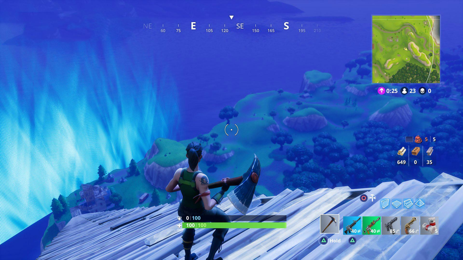 Escaping the storm in Fortnite BR