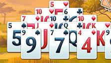 a locked stack of cards in Fairway Solitaire