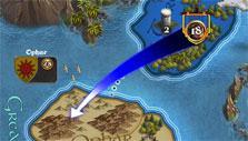 Troop movement in Legends of Callasia