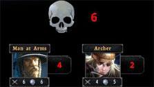 Battle forecast in Legends of Callasia