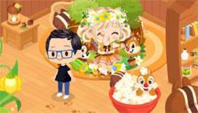 LINE PLAY: Visiting a friend's home