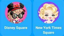 Picking a square room to head to in LINE PLAY