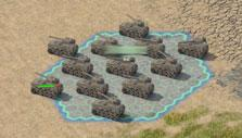 Amassing an army in Island Force