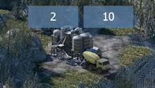 River Combat: Upgrading a building